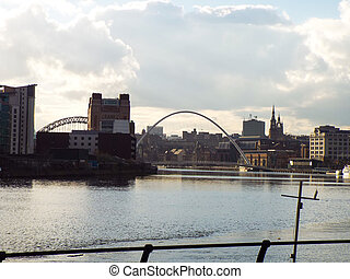 Newcastle Upon Tyne - Quayside at Newcastle Upon Tyne with...