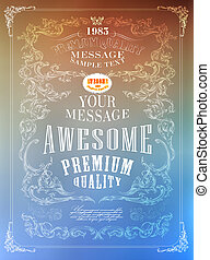 Premium Quality, Guarantee typography design .Vector blur...