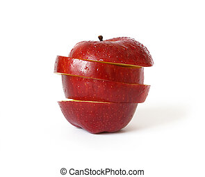 Ripe red apple isolated on white