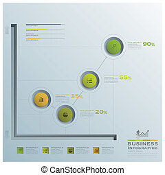 Business Infographic Graph Circle