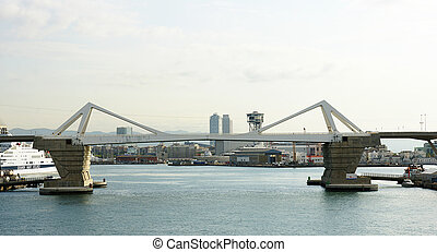 Drawbridge at the port of Barcelona