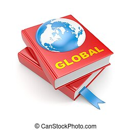 Books and earth. Global metaphors - Business concept....