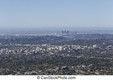 Pasadena and Los Angeles Aerial - Pasadena and Los Angeles...