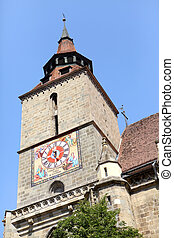 The Clock tower of the Black Church, Brasov, Romania