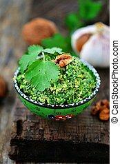 spinach pkhali. georgian appetizer - spinach...