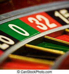 Casino roulette, zero