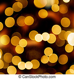 Bokeh - Christmas lights in the background. Forced blurr....