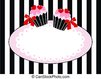 cupcake tag label invitation