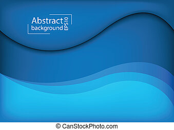 3D Abstract curve overlap on blue background used for web...