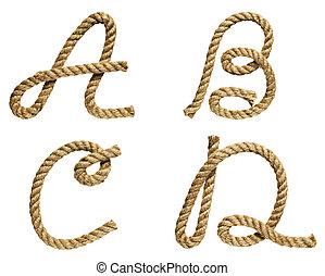Letter A, B, C, D