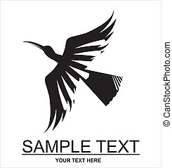 Flying Bird silhouette - silhouette of the flying black...