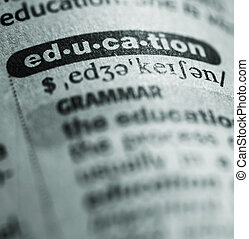 education - dictionary definition of word education