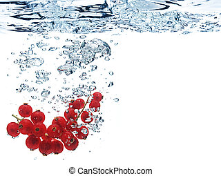 Bubbles in blue water - Bubbles forming in blue water after...