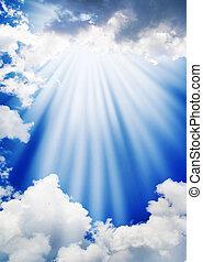 Sky - Blue sky with beauty clouds