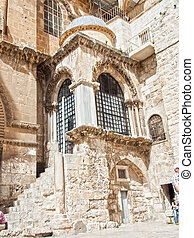 Israel. Church of the Holy Sepulchre in old city of...