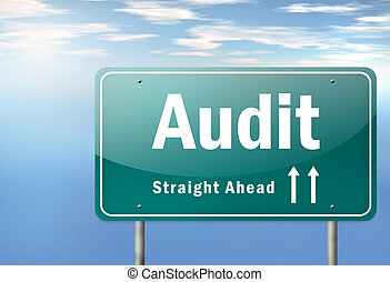 Highway Signpost Audit - Highway Signpost with Audit wording