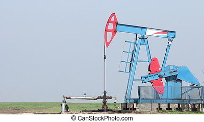 oil pump jack on oilfield
