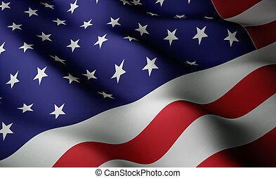 American flag - High resolution flag with fabric surface...
