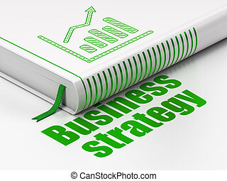 Business concept: book Growth Graph, Business Strategy on...
