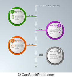 Timeline info graphic round template vector eps 10