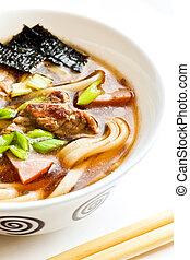Miso soup - Japanese cuisine %u2013 miso soup with noodles,...