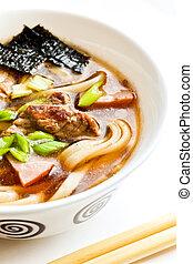 Miso soup - Japanese cuisine %u2013 miso soup with noodles,...