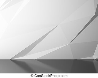 white abstract background - 3d render of white abstract...