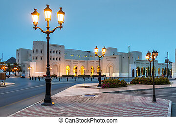 Night scene Muscat - Picture of a night scene in Muscat,...
