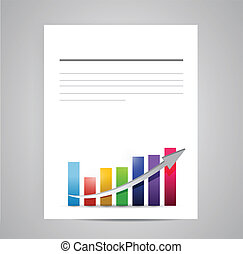 business document paper illustration design over a white...