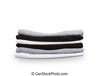 pack of tshirts  on a white background