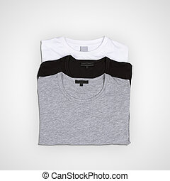 pack of tshirts  on a gray background