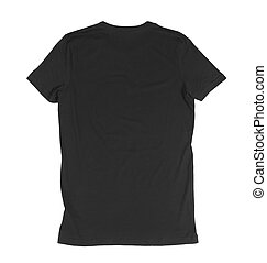black t shirt - blank black tshirt front side on a white...