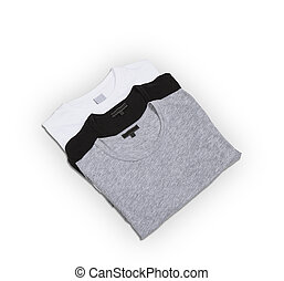 three pack of tshirts - three pack of t shirts on a white...
