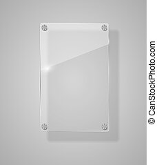 Realistic Glass Frames. Vector Illustration