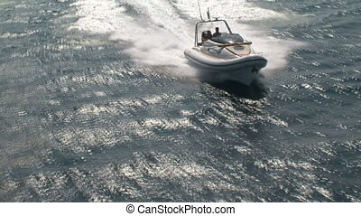 Aerial view of navigating maxi rib