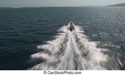 Aerial view of navigating maxi rib - Aerial view of maxi rib...