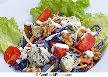 salad - fresh organic eco vegetable salad,close-up isolated...