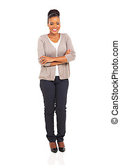 african american woman with arms folded