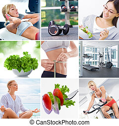 lifestyle theme mix - Healthy lifestyle theme collage...
