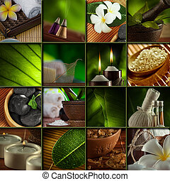 sap object - Spa theme photo collage composed of different...