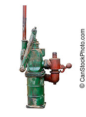 hand water pump - Hand water pump, old water pump isolated...