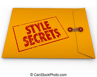 Style Secrets Yellow Confidential Envelope Tips Advice Help...
