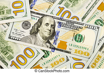 new edition 100 dollar banknotes, money and currency for...