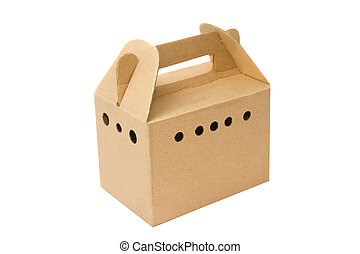 Cardboard box for carrying small pet