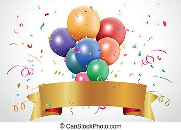 Colorful birthday celebration - Vector Illustration of...