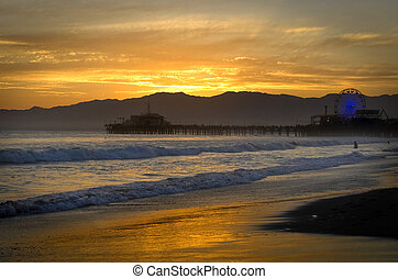 Santa Monica Beach - Santa Monica Sunset
