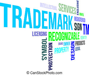 word clouod - trademark - A word cloud of trademark related...