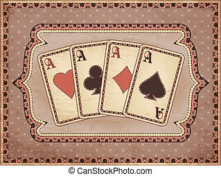 Vintage casino wallpaper with poker