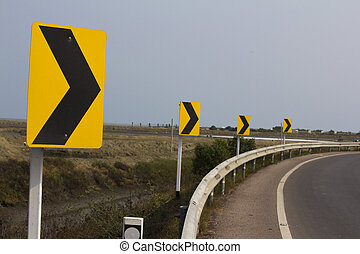 Right curve road