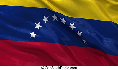Flag of Venezuela - seamless loop - Flag of Venezuela gently...